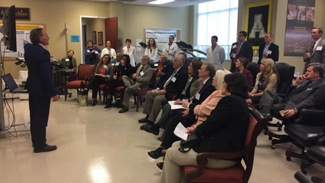 Dr. Nieman giving a presentation