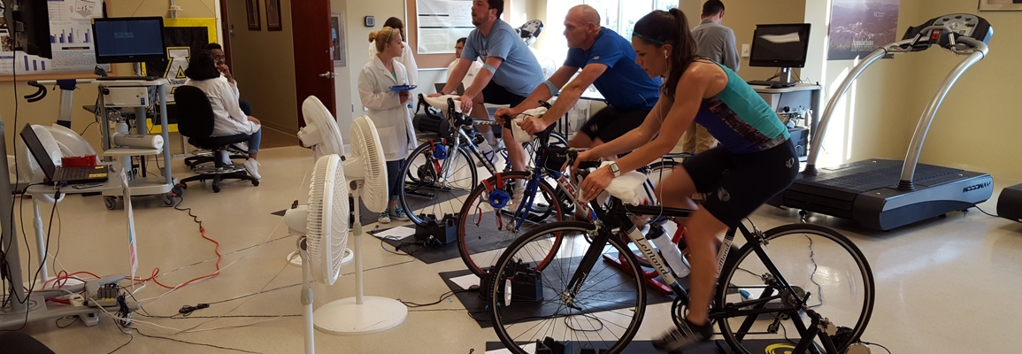 Cyclists in the Human Performance Lab